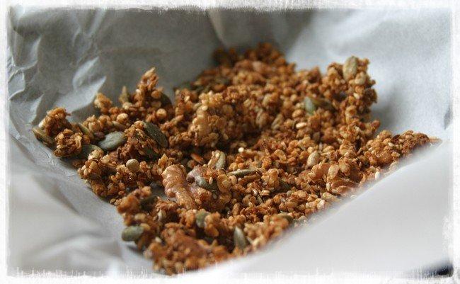 Homemade granola Healthiness