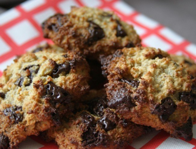 Chocolate chip cookies met sinaasappel