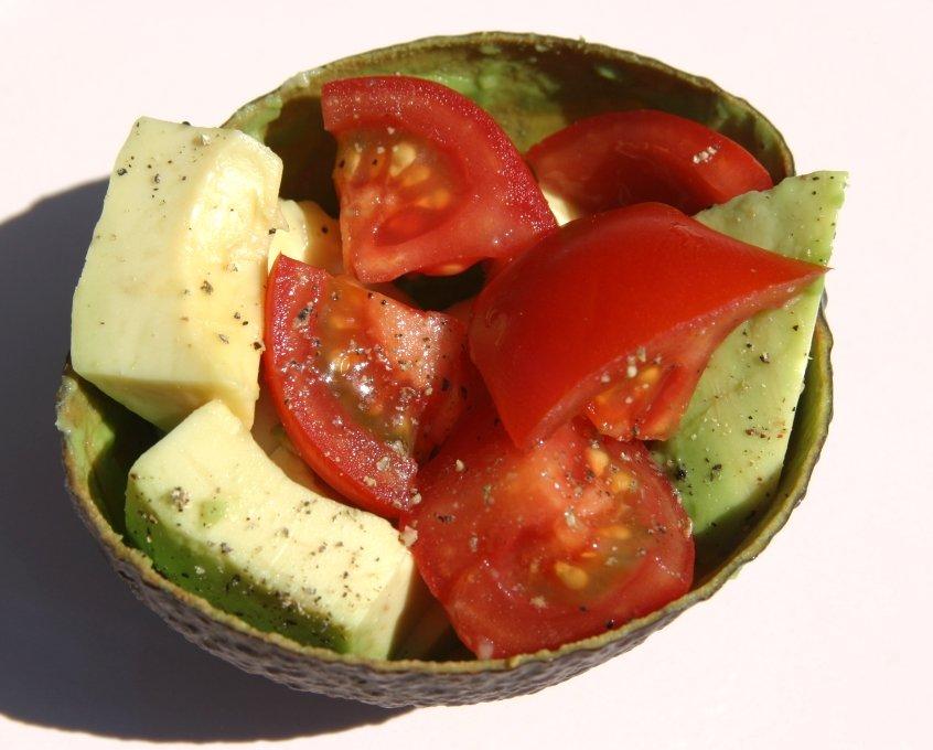 Avocadoschuitje met tomaat Healthiness