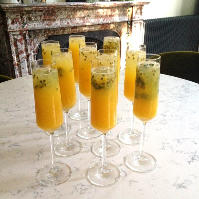 Summer passion fruit drink