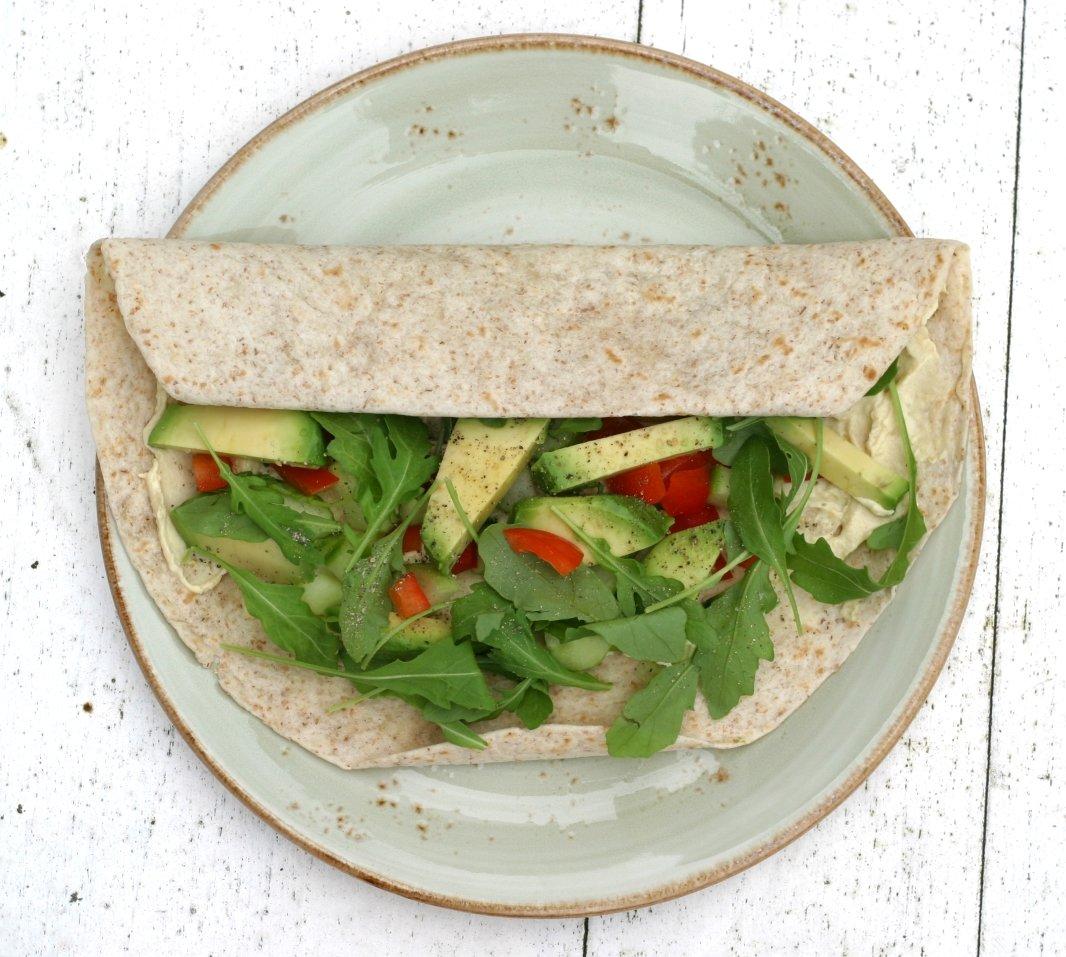 Lunchtip: Volkorenwrap met veggies